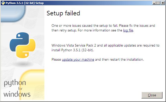 Issue 25947: Installation problem - Python tracker