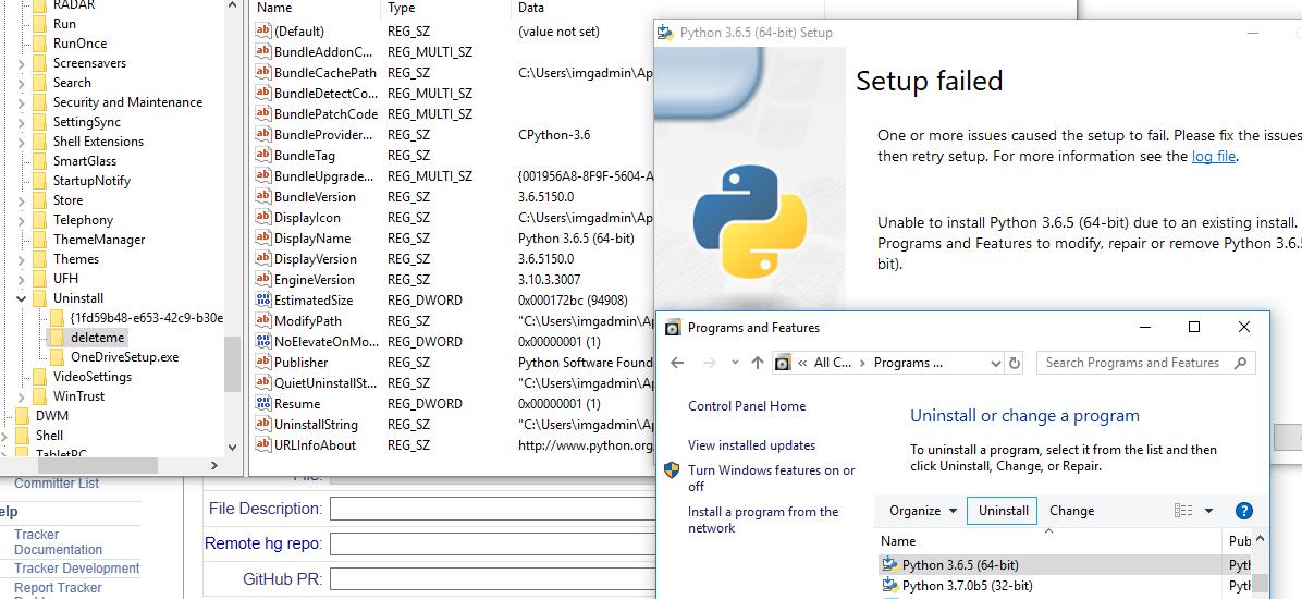 Issue 33779: Error while installing python 3 6 5 on windows 10